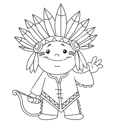 Indians clipart indian kid Clip and Clip Black White
