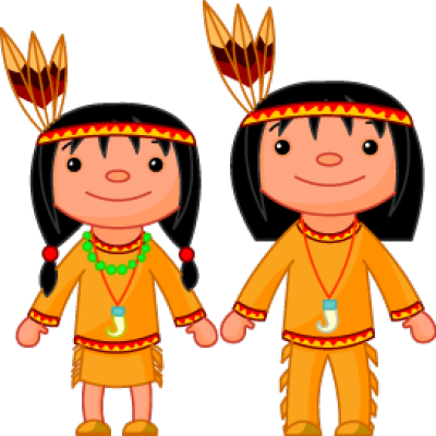 Native American clipart cute And Couple Cartoon Indian Art