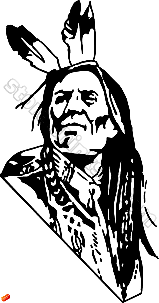 Native American clipart face Art Borders Native fotosearch