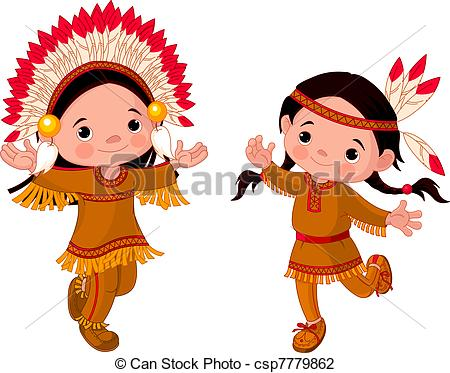 Aboriginal clipart native american headdress Dancing of Indian  and
