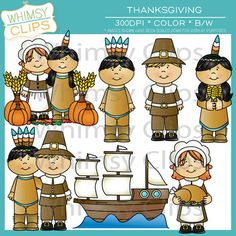 Pilgrim clipart mayflower  includes American Thanksgiving image