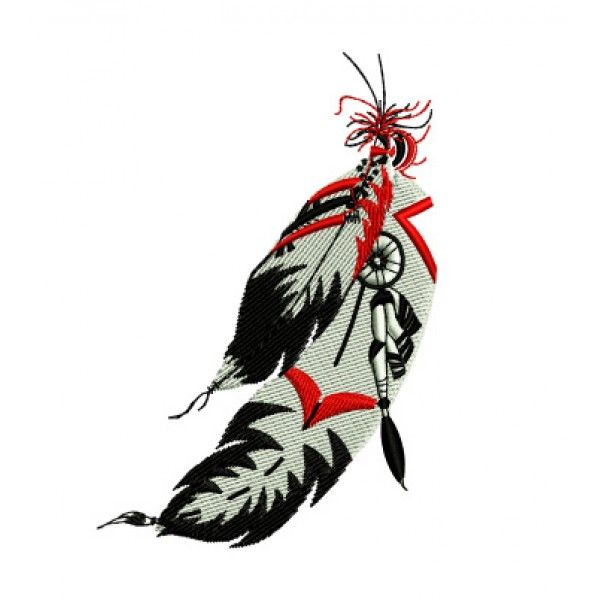 Native American clipart feather Embroidery Design American images Indian