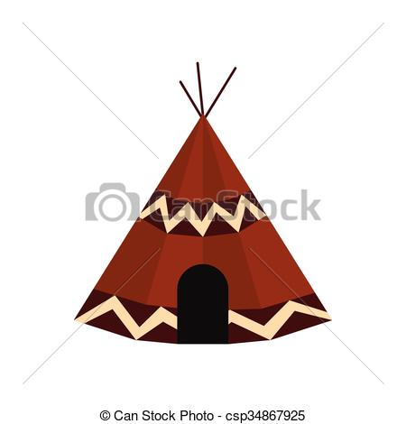 Indians clipart tent Simple tent icon of black