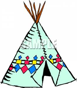 Indians clipart tent Indian A Indian Tent Image: