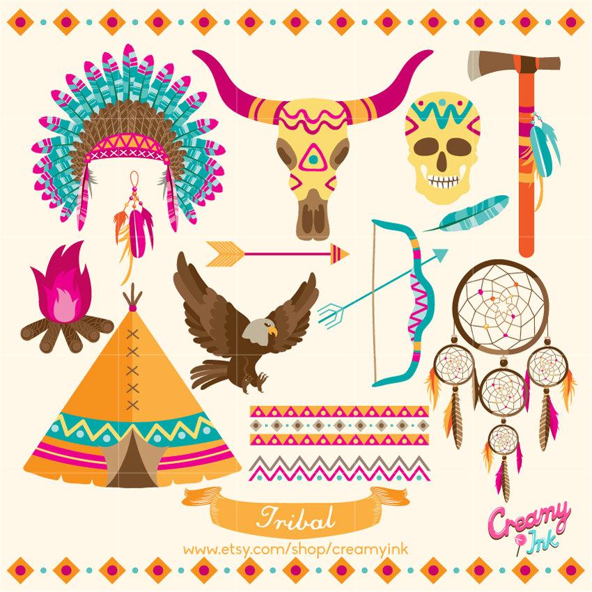 Indians clipart tipi Digital art is Clip Design