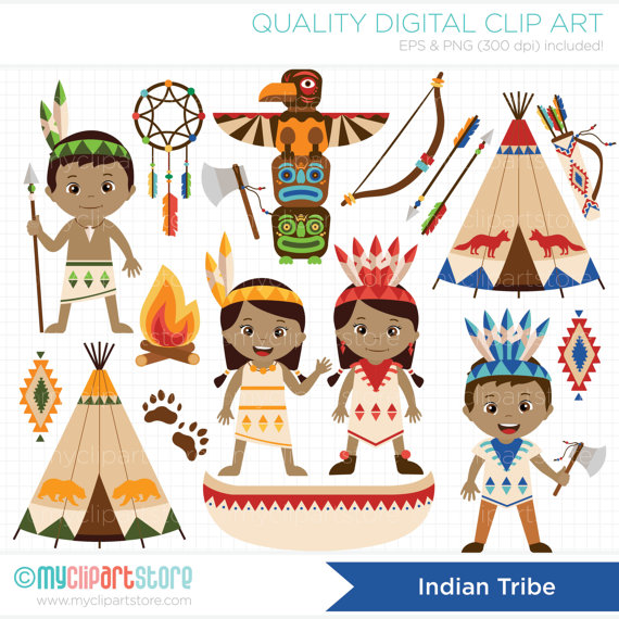 Indians clipart tribe Digital / Il_570xn American Tribe