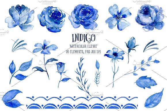 Indigo clipart ~  Clipart on Indigo