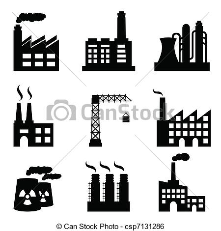 Industrial clipart city pollution Illustrations 131 Industrial 548 background