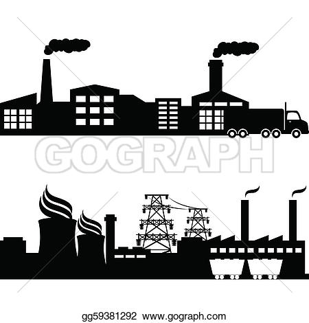 Industrial clipart city pollution Art Royalty industrial Free plant