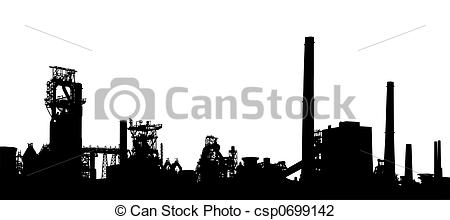 Industrial clipart city pollution Of an Industrial  of
