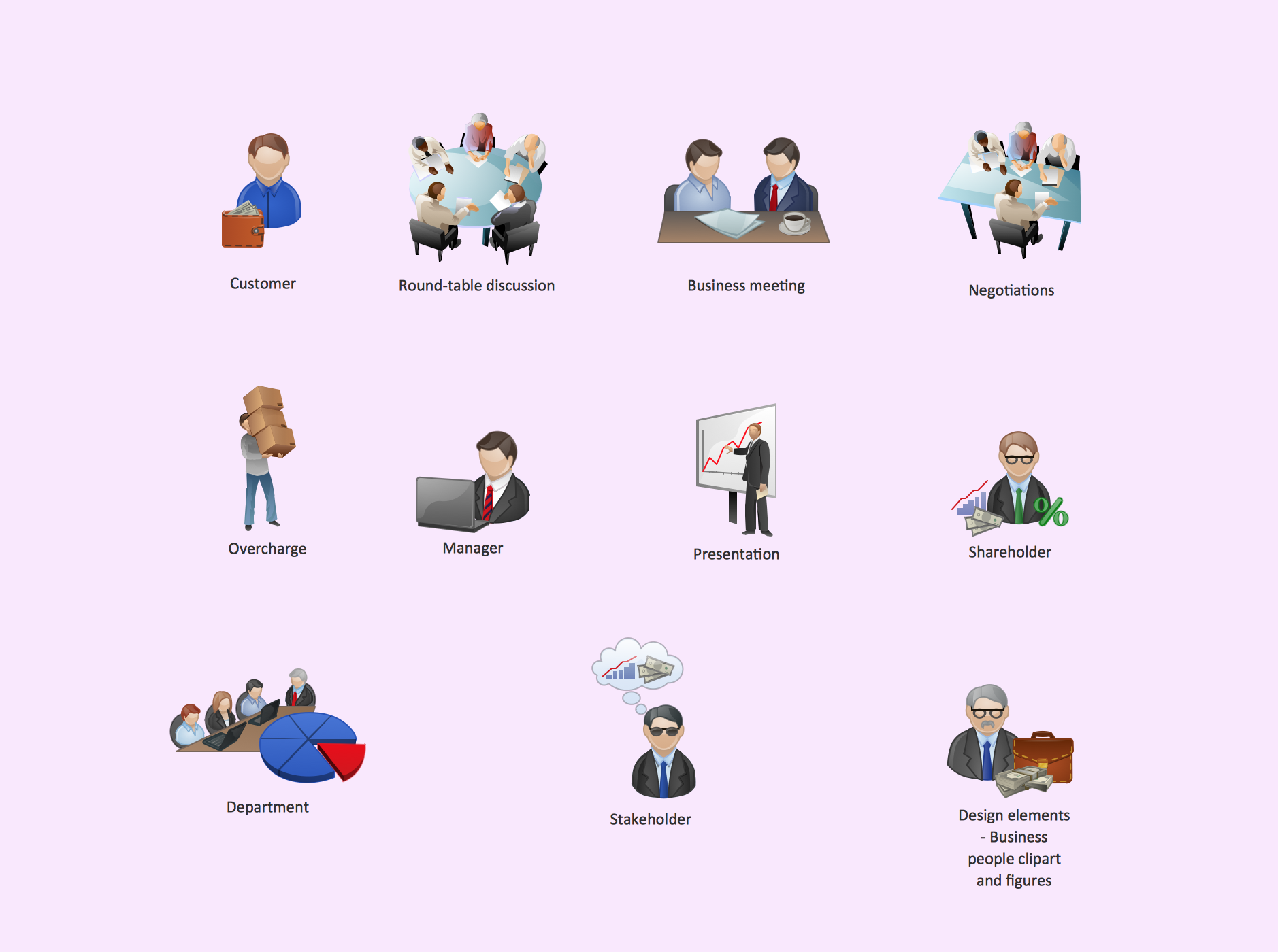 Business clipart marketing Clipart Vector library  Clipart
