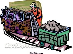 Industrial clipart coal Coal mining Clip coal Vector