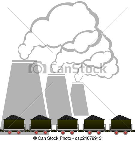Caol clipart industry 2 industrial trolleys 2 Coal