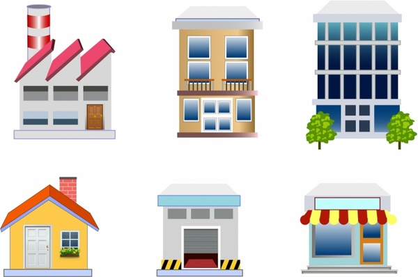 Structure clipart commercial property Estate Free estate vector commercial