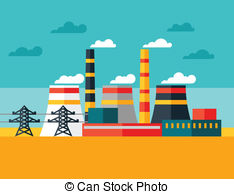 Industrial clipart electrical power plant Power Graphics 21 plant Vector