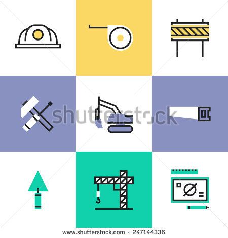 Industrial clipart engineering tool Crane industry objects Construction building