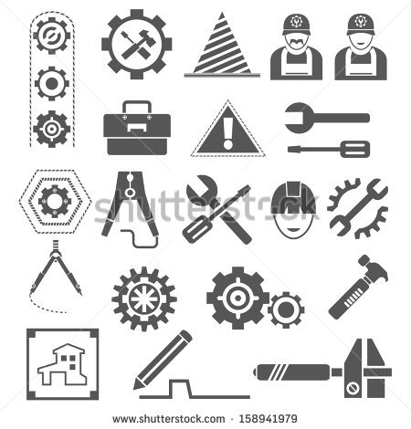 Industrial clipart engineering tool Pinterest stock vector icon tools