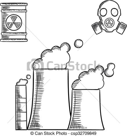 Industrial clipart environment pollution Industrial of Vector environment csp32709849