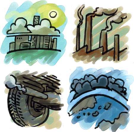 Industrial clipart environment pollution Pollution air Types of Pack