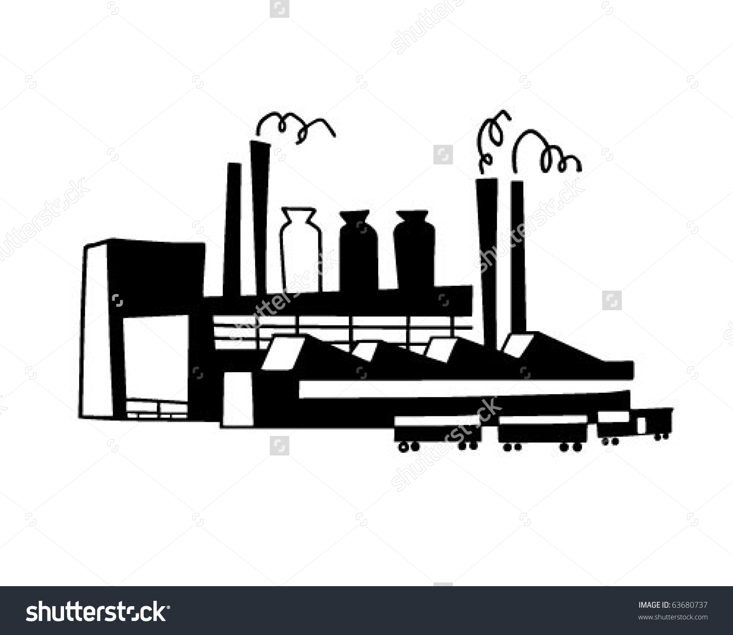 Steel clipart steel industry Clipart Industrial commercial garbage: Industrial