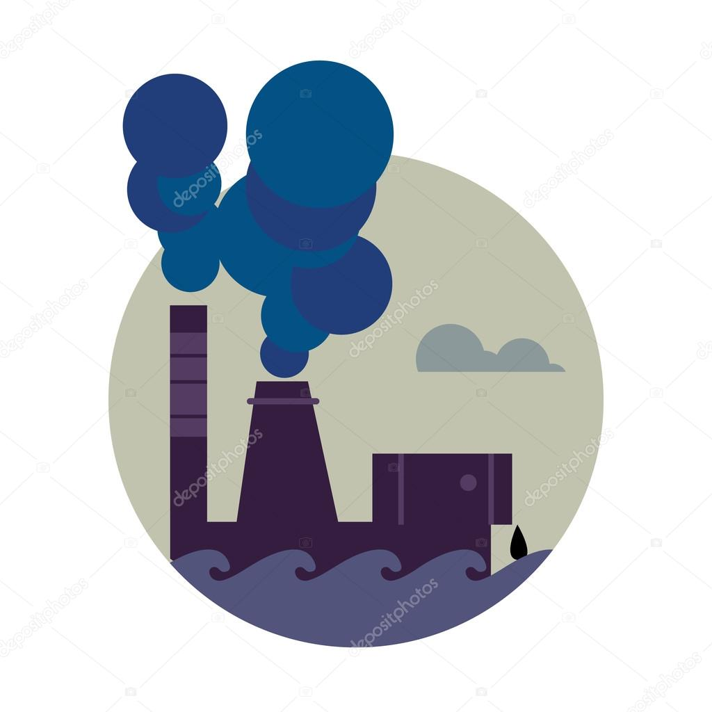 Industrial clipart factory air pollution Banner Smokestack pollution stack factory
