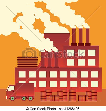 Industrial clipart factory air pollution  EPS design pollution Images