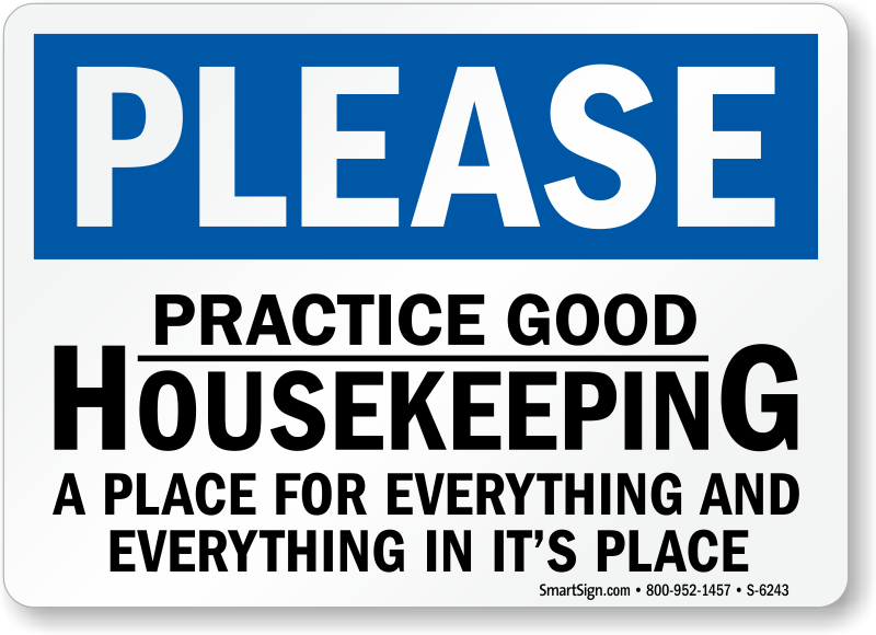 Industrial clipart housekeeping Mysafetysign Housekeeping Housekeeping WikiClipArt clipart