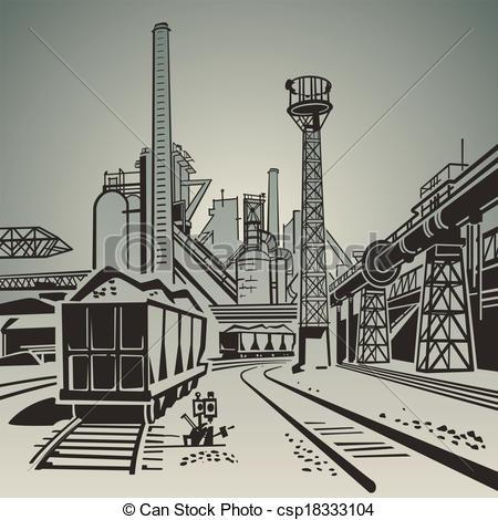 Industrial clipart industrial area Clip  Vector Art Industrial