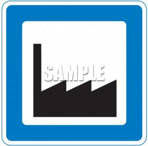 Industrial clipart industrial area Road Royalty Picture Sign Road