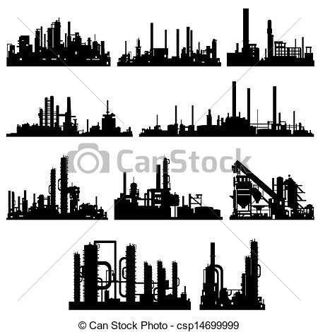 Industrial clipart industrial building Building  industrial Contour EPS