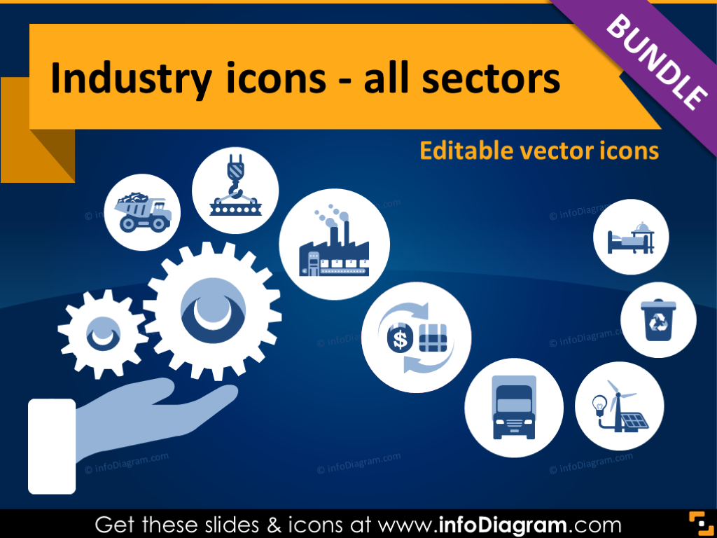 Industrial clipart industry (flat Resources Editable clipart) Icons