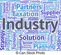 Industrial clipart manufacturing Word Manufacture of Illustration Stock