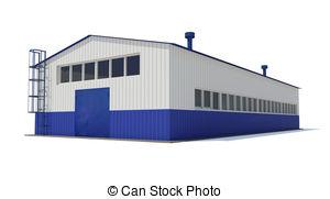 Industrial clipart warehouse Art Industrial Stock Building Industrial