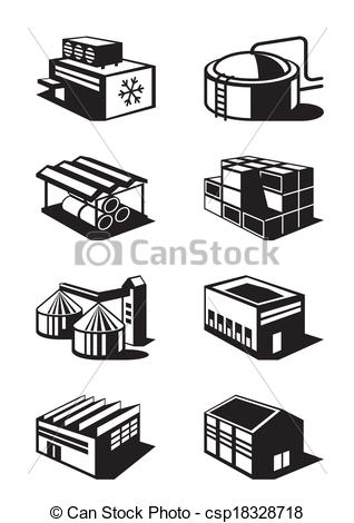 Industrial clipart warehouse Csp18328718 commercial Clip  and