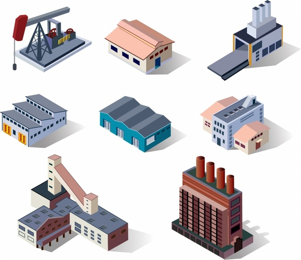 Industrial clipart warehouse Vector Warehouse (40 Buildings