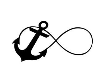Drawn anchor infinity sign Free Clipart Clip Sign Clipart