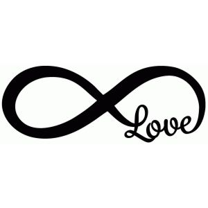Infinity clipart black and white Design Infinity 25+ phrase love