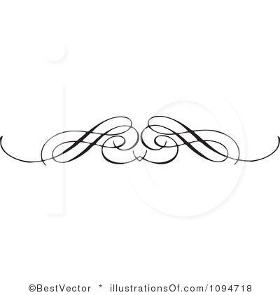 Swirl clipart scroll line Images Scroll on Black Art