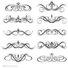 Calligraphy clipart elegant frame Free flourish Google swirls Search