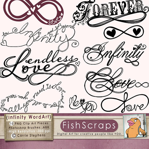 Infinity clipart endless Infinity Stamps Art Symbols Digital
