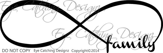 Infinity clipart family Love Family Decor Bedroom Forver