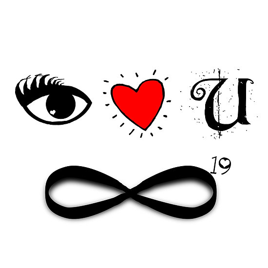 Infinity clipart i love you Infinity you Prints squared by