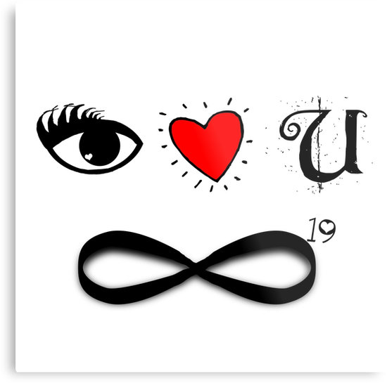 Infinity clipart i love you Infinity you Prints  squared