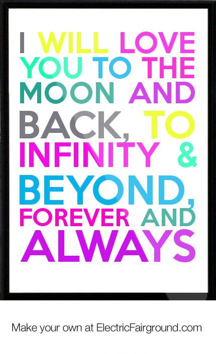 Infinity clipart i love you To you moon 232 you