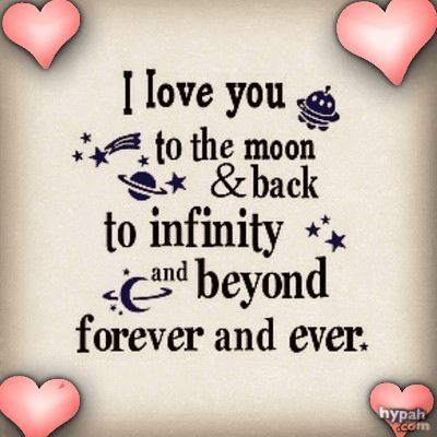 Infinity clipart i love you To you  love moon