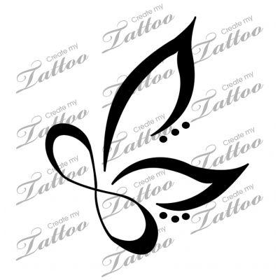 Infinity clipart infiniti Butterfly Infinity Infinity CreateMyTattoo Butterfly