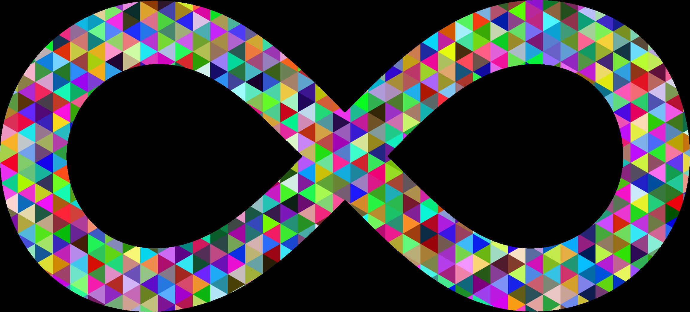 Infinity clipart infinity sign Triangular Triangular Clipart Prismatic Prismatic