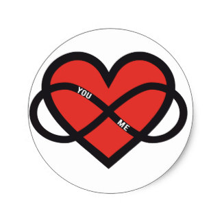 Infinity clipart never ending Classic sticker with Love red