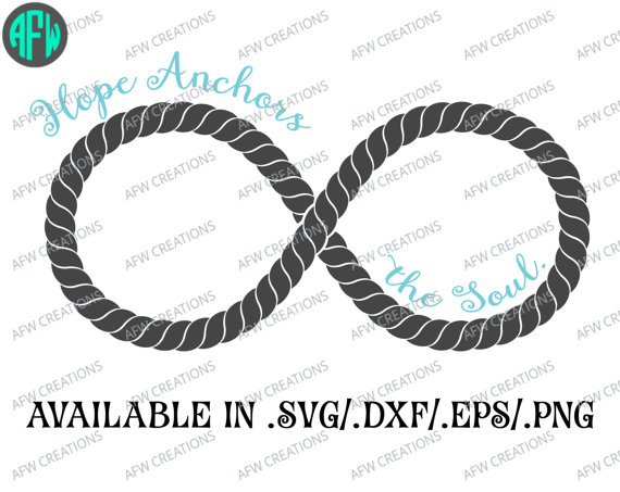 Infinity clipart rope On Cut DXF File Soul