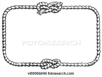 Square clipart rope Rope Border cliparts Knot Clipart